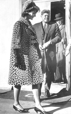 K is for Kennedy; Jackie is probably the only person that can make head to toe leopard print look so classy and elegant