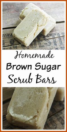 Easy Homemade Brown Sugar Scrub Bars - body scrub in a solid form. Great for exfoliation and makes a wonderful gift!