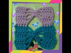 Punto crochet mariposa. - YouTube