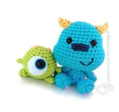 Amigurumipatterns.net has the biggest collection of amigurumi patterns. Click and discover Baby Mike and Sulley amigurumi pattern.