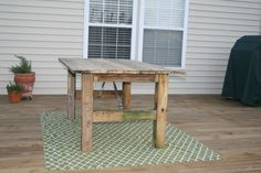 How To Build A Rustic Outdoor Dining Table: Guest Remodel
