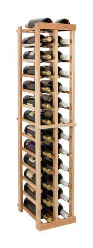Vintner 4 ft. 2-Column Individual Wine Rack (Rustic Pine - Dark Walnut Stain) Rustic Pine - Dark Walnut Stain. Bottle capacity: 26. Two column wine rack. Versatile wine racking. Custom and organized look.  #WineCellarInnovation #Kitchen
