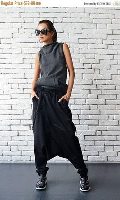 ON SALE Extravagant Black Pants/Loose Casual Pants/Comfortable