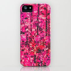 Pink & Red iPhone & iPod Case by Georgiana Paraschiv