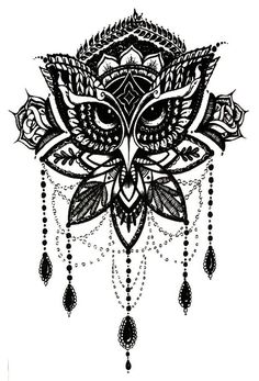 black and white owl this would be awesome as a tattoo