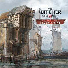 The Witcher 3:Wild Hunt - Blood & Wine Harbour, Andrzej Dybowski on ArtStation at https://www.artstation.com/artwork/1Row3