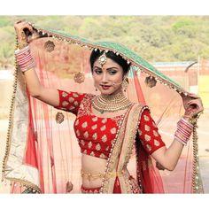 Image may contain: 1 person Beautiful Gif, Beautiful Bride, Girl Pictures, Girl Photos, Punjabi Bride, Indian Tv Actress, Stylish Girls Photos, Tv Actors, Bridal Shoot