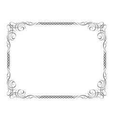 Calligraphy ornamental decorative frame vector 730892 - by 100ker on VectorStock®