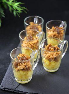 Verrine foie gras pommes et pain d'épices