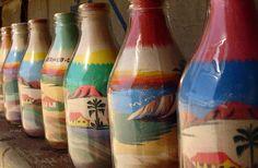 Garrafinhas de areia, Brazil, crafts
