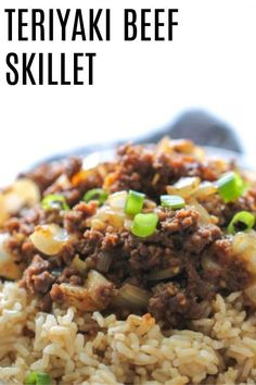 We are always on the lookout for simple and delicious meals, and this one is a winner. We are obsessed with how delicious this Teriyaki Beef Skillet is.