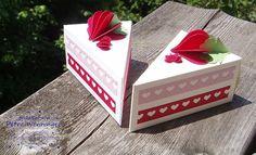 Genussbasteln: wie die Herzen zur Erdbeere wurden (Cake Box)