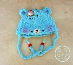 Brilliant blue  kawaii bear cake hat for NEO BLYTHE