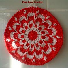 \ PINK ROSE CROCHET /: Pega Panelas Kaleidoscope