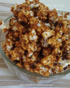 Peanut Butter Popcorn-the perfect blend of Salty and Sweet AND Peanut Butter! Great as a school snack!