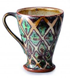 Peter Karner Two glazes and wax resist, I believe I think the surface and form are perfect click now for more info. Pottery Mugs, Ceramic Pottery, Pottery Art, Thrown Pottery, Slab Pottery, Clay Mugs, Ceramic Clay, Ceramic Bowls, Stars Disney