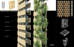 blake chamberlain, waste not want not, architecturra inc, growth wall, vegetation wall, salvaged materials, green design, sustainable design, environmental architecture, adaptive reuse