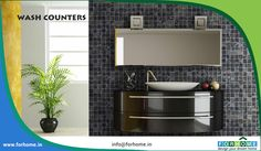 Wash Counters and Home Accessories - For Home Kerala Contact : 0484 9995808617 Visit : www. Interior Walls, Interior And Exterior, Wall Cladding Tiles, Kitchen Accessories, Accessories Shop, Natural Stone Wall, Door Fittings, Shops, Tile Manufacturers