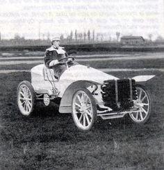Camille DuGast on her Paris-Madrid 1903 DeDietrich