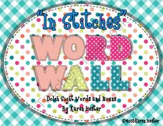 """In Stitches"" Word Wall from Little Smarticle Particles on TeachersNotebook.com -  - This is a complete set of Dolch Sight Word and Noun Cards. Each set is organized by level, pre-primer through third grade. Also included are alphabet cards for convenient organization of word walls. Copy on cardstock and laminate for use year after year!"