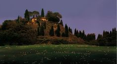 Near Pienza - Giclee Print by Chris Young