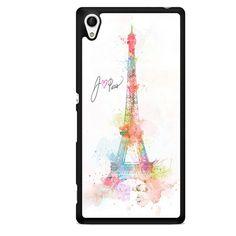 Paris Rainbow Painting Sony Phonecase For Sony Xperia Z1 Xperia Z2 Xperia Z3 Xperia Z4