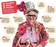 Relembre alguns bordões do dono da Buzina! Espetáculo que estreia dia 27 de março aqui no Teatro Alfa...