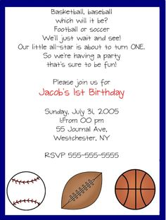 sports invitation template
