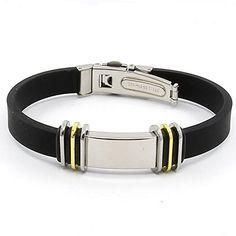 Fashion New Mens Black Punk Rubber Stainless Steel Wristb... https://www.amazon.com/dp/B01FTPVWKW/ref=cm_sw_r_pi_dp_x_8VJryb0DH5B4N