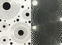 [Nirmana] Composition of dots, hand drawn on paper by Leticia Aprilie (batch 2016, UPH Product Design)