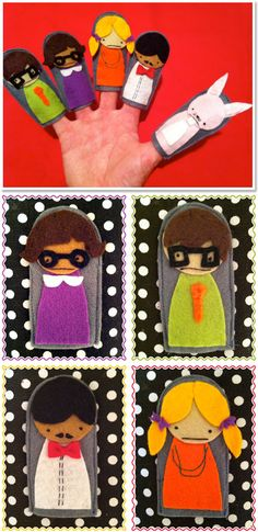 Felty Friends for your Fingers. SO CUTE!