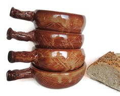 Soup Bowls French Onion Handled bowls Set of by RisingStarPottery1, $80.00