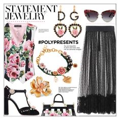 """""""Win It! PolyPresents: Statement Jewelry"""" by pat912 ❤ liked on Polyvore featuring Dolce&Gabbana, Oscar de la Renta, contestentry, polyvoreeditorial and polyPresents"""