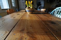 Hoping to make one like this for our kitchen from barn boards from my in-laws' old barn in Tennessee