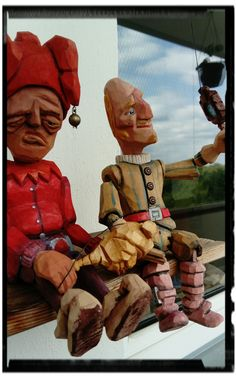 jester and prince wooden marionettes puppets