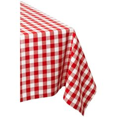 """DII Flame Red & White Checkers Tablecloth 60"""" x 84"""" ($29) ❤ liked on Polyvore featuring home, kitchen & dining, table linens, kitchen linen, rectangle table cloth, picnic table cloth, red white checkered tablecloth, cotton napkins and checkered picnic tablecloth"""