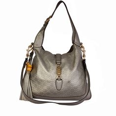 This stylish Gucci Jackie Hobo is a stunning casual bag that you can easily use every day. Gray Aesthetic, Silver Accessories, Casual Bags, Designer Bags, Dust Bag, Take That, Gucci, Stains, Handle