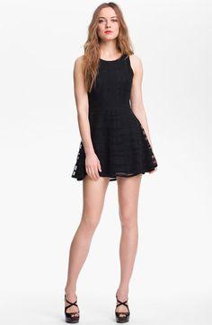Silk Fit & Flare Dress
