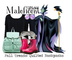 """""""Maleficent"""" by tallybow ❤ liked on Polyvore featuring Veronica Beard, Alice + Olivia, T-shirt & Jeans, Aurum By Gudbjorg and Dr. Martens"""