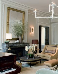 25 Rooms for Classicists Living Room Lounge, Living Room Decor, Living Rooms, Living Spaces, Grey Interior Design, Exterior Design, Luxury Home Decor, Elegant Homes, Beautiful Space