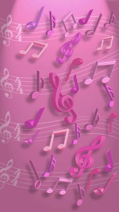 Imagens de Notas musicais para celular - Imagens para Whatsapp - Best of Wallpapers for Andriod and ios Wallpapers Rosa, Pretty Wallpapers, Music Drawings, Music Artwork, Music Backgrounds, Wallpaper Backgrounds, Cellphone Wallpaper, Iphone Wallpaper, Music Border
