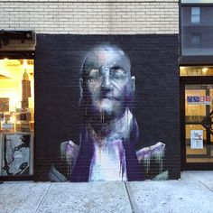 Conor Harrington paints a second new mural for the Lisa Project in New York City