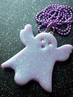 Ghost Pendant / Pastel Goth / Paranormal Jewelry / by CultBLACK