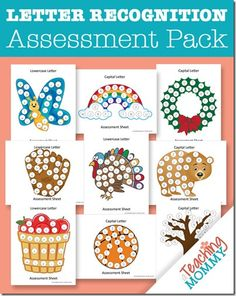 FREE Letter Recognition Assessments