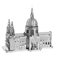 St Paul's Cathedral Jigsaw Puzzle Building Blocks Child Educational Miniature Model Toy Metal Puzzles, 3d Puzzles, Cheap Baby Clothes, Metal Earth, London Models, Church Fashion, Model Building Kits, Famous Buildings, Educational Toys For Kids
