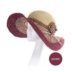 Fashion wide brim sun hat for women with flower straw hats beach wear