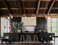 Architectural Digest, Board Formed Concrete, Concrete Wall, Ashton Kutcher, Mila Kunis Y Ashton, Decoracion Vintage Chic, Devol Kitchens, Dream Kitchens, Kitchen Cabinetry