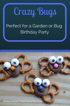 CRAZY BUGS perfect for birthday parties for boys and girls. Insects, garden themes or even for a back to school snack idea.