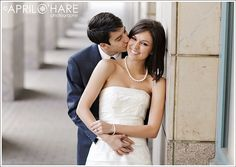 A Colorado elopement photoshoot at the central branch of the Denver Public Library in downtown Denver, Colorado. - April O'Hare Photography http://www.apriloharephotography.com #ColoradoElopement #DenverCourthouseWedding #DenverPublicLibrary #DenverWeddingPhotographer