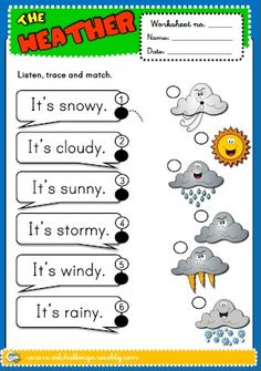 WEATHER WORKSHEET http://eslchallenge.weebly.com/english-yes-1.html